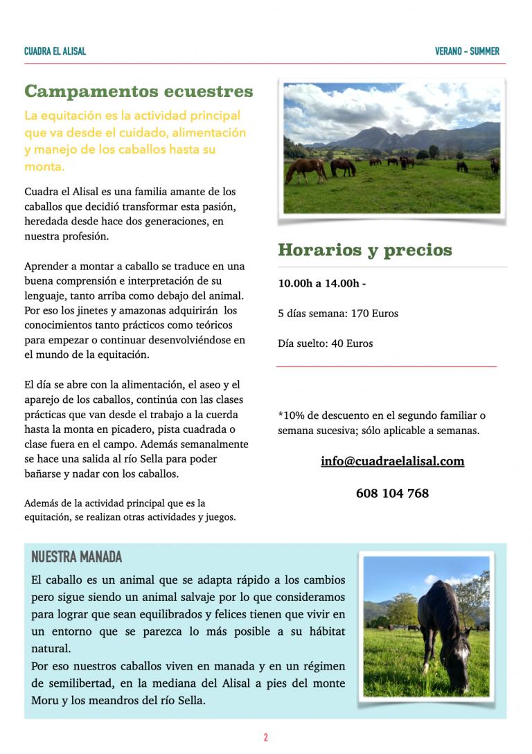 campamentos hipicos en Ribadesella
